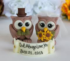 owl cake toppers rustic wedding cake topper custom wedding owl cake topper owl