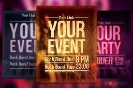 simple event flyer poster flyer templates creative market