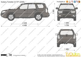 subaru van 2010 the blueprints com vector drawing subaru forester 2 5 xt