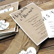 rustic wedding invitation burlap twine country barn kraft