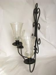 Candelabra Wall Sconces Black Iron Candelabra Wall Sconces Vintage Candle Sconce Pair