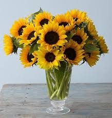sunflower arrangements yellow sunflower arrangement with glass vase for the dining room