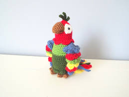 Home Decor Birds by Handmade Crochet Parrot Doll Toy Amigurumi Gift Ideas Home