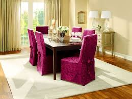 beautiful purple dining room back chair covers on white area rug