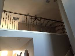 Replace Banister With Half Wall Wrought Iron Spindles Wrought Iron Spindles Staircase With Dark
