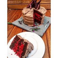 birthday cake cherry ripe protein cake