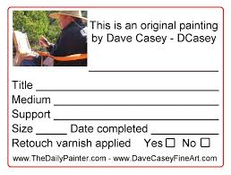 What Information Do You Put On A Business Card What Do You Write On The Back Of Your Painting Other Business
