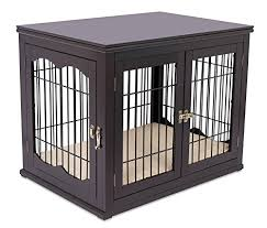 dog kennel side table internet s best decorative dog kennel with pet bed double door