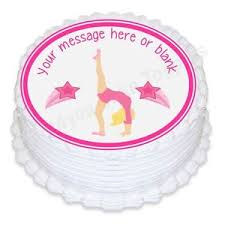 gymnastics cake toppers gymnastics gymnastics nd2 personalised cake topper