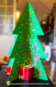 árbol de navidad 3d con materiales reciclados manualidades niños