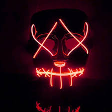 Halloween Costumes Led Lights by Amazon Com Halloween Mask Cocohot Scary Halloween Mask Led Light