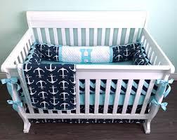 Nautical Crib Bedding Anchor Crib Bedding Etsy