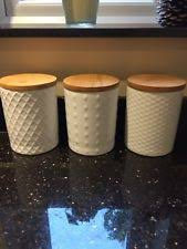 contemporary wooden kitchen canisters u0026 jars ebay
