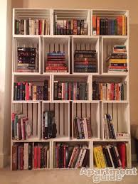 How To Make Wooden Shelving Units by Love To Read Stacked Painted Crates Make Cute Library Like