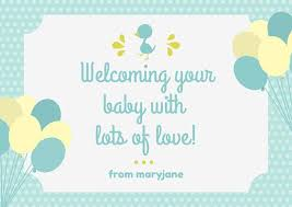 baby card customize 175 baby shower card templates online canva