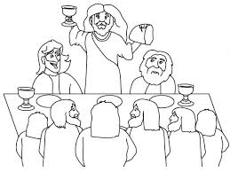 Last Supper Coloring Pages Clever Design And His Disciples In The Last Supper Coloring Page