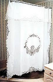 battenburg lace shower curtain only ecru color available
