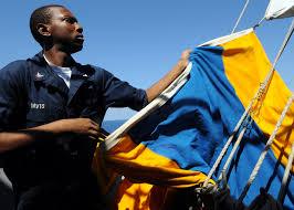 Us Navy Signal Flags File Us Navy 090827 N 6567v 048 Quartermaster 3rd Class Alex Davis