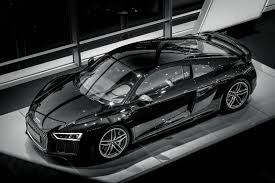 audi r8 blacked out stunning black 2016 audi r8 v10 at audi center frankfurt gtspirit