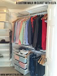 decor minimalist clothes organizer ideas using elfa closet with