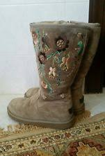 womens ugg juliette boot s floral suede boots ebay