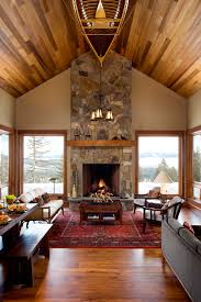 Mountain Home Interior Design Ideas Small Mountain Home Coeur D Alene Mountain Architects Hendricks