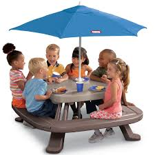 Folding Picnic Table Instructions by Fold U0027n Store Picnic Table With Market Umbrella