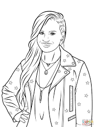 demi lovato coloring page free printable coloring pages