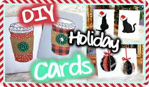 Homemade Christmas Card Ideas by Diy Christmas Holiday Cards Easy U0026 Cute Youtube