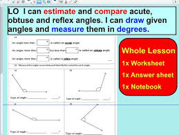 using a protractor to measure angles by pjms teaching resources