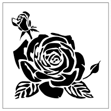 rose03 reusable laser cut mylar stencil roses