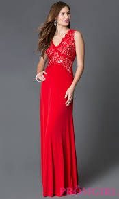 red sleeveless lace bodice prom dress promgirl