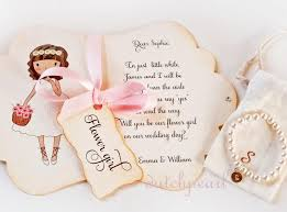 will you be my flower girl gift card and bracelet will you be my flower girl invitation in gift