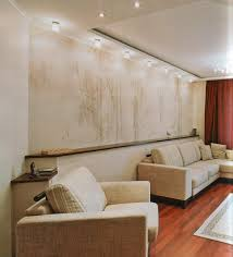 luxurious living room wall decoration with brick tiles wall