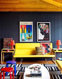 decorating ideas concept bold color paint for trendy apartment