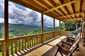 Rocking Chairs On Porch Deck U0026 Porch Tour Above The Clouds Cabin Blue Ridge Ga