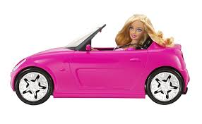 barbie corvette amazon com barbie glam pink convertible and barbie doll toys u0026 games