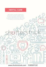 hand drawn line dental set stock vector 408371827 shutterstock