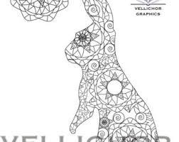 bunny coloring etsy