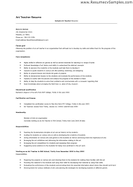 resume template art teacher best resumes curiculum vitae and
