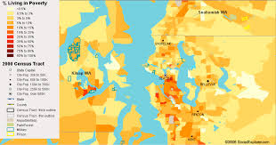 Map Of Seattle Seattle Poverty Map U2014 Visualizing Economics