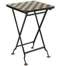 chess table folding metal chess table oka
