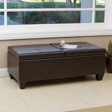 shop best selling home decor alfred brown faux leather ottoman at