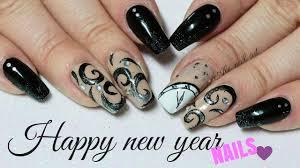 happy new year nails ale nail art youtube