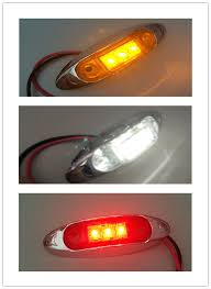 10x 12v 24v white led side marker light clearance l 10 30v car