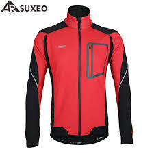 thermal cycling jacket arsuxeo 2017 winter warm up thermal cycling jacket bicycle clothing