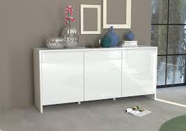 Buffet design blanc laqué 4 portes Bali 185 cm