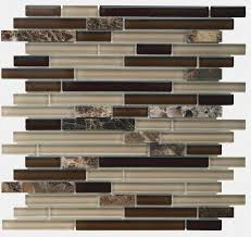 Best Glass And Stone Tiles Images On Pinterest Kitchen - Linear tile backsplash