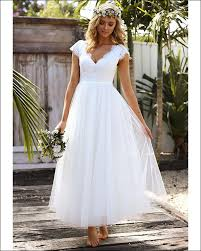 wedding dress a line 2018 summer wedding dresses a line v neck cap sleeve open