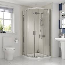 Shower Enclosure Bathroom Suites Wickes Florence 8mm Glass Quadrant Shower Enclosure 900mm